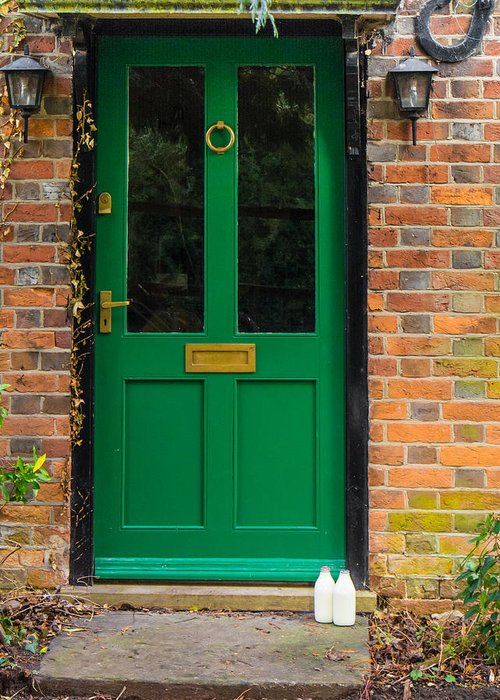 Berkshire Greeting Card featuring the photograph The Green Door by Mark Llewellyn