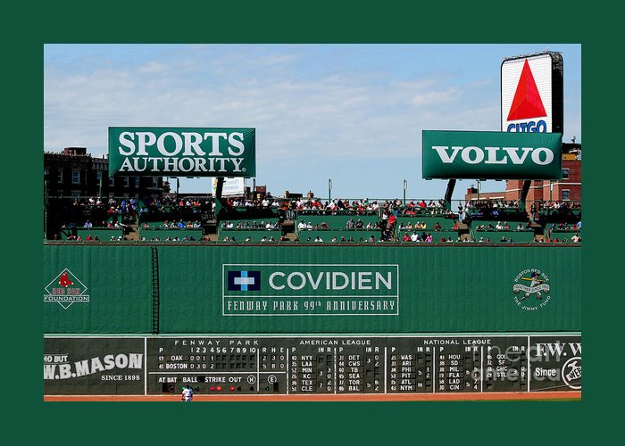 Fine Art America Greeting Card featuring the photograph The Green Monster 99 by Tom Prendergast