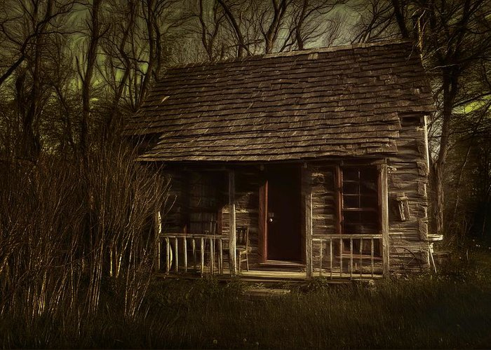Hermits Greeting Card featuring the photograph The Hermit's Cabin by Julie Dant