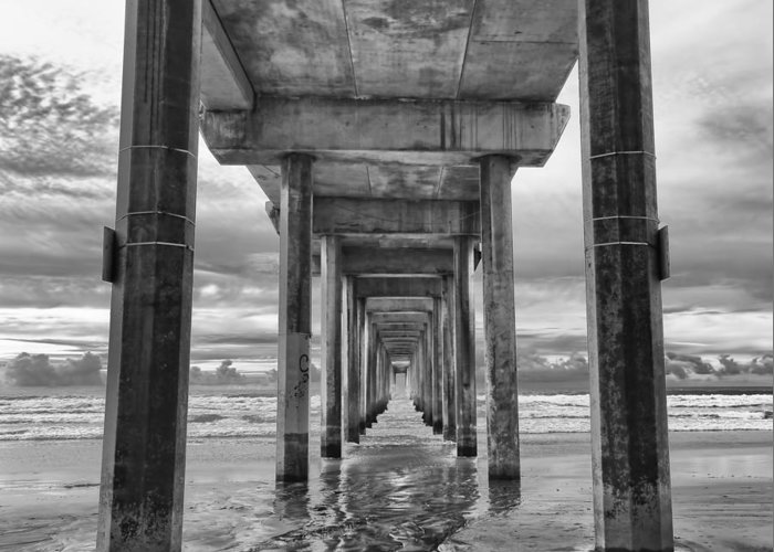 Larry Marshall Greeting Card featuring the photograph The Iconic Scripps Pier by Larry Marshall
