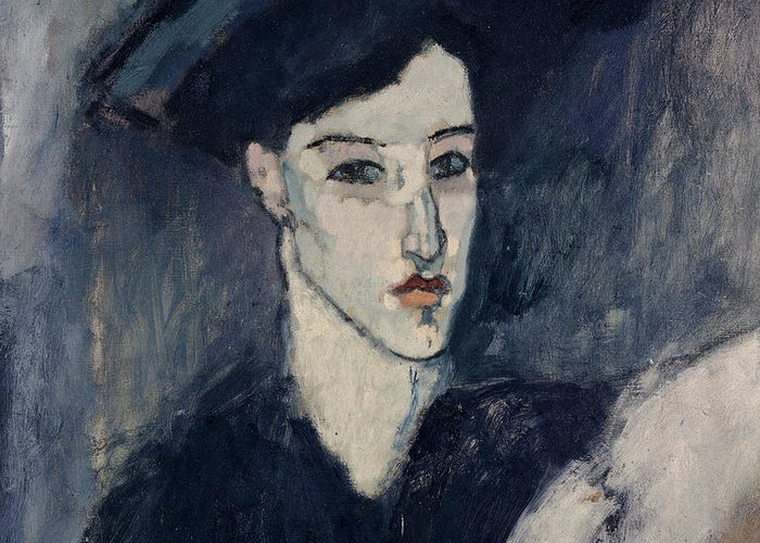 Modigliani Greeting Card featuring the painting The Jewess by Amedeo Modigliani
