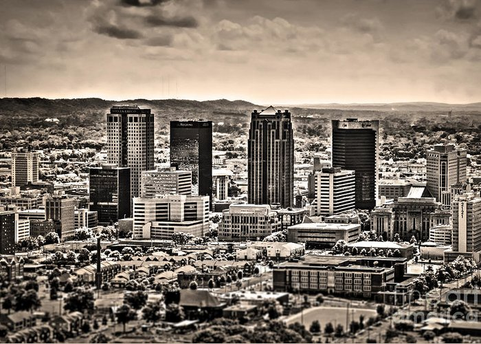 Ken Greeting Card featuring the photograph The Magic City Sepia by Ken Johnson