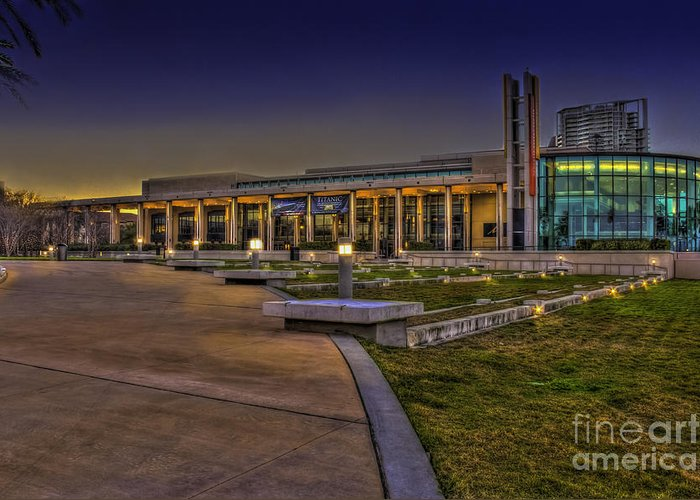 Theater Greeting Card featuring the photograph The Mahaffey Theater by Marvin Spates