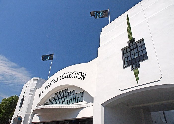 Art Deco Greeting Card featuring the photograph The Mansell Collection - Art Deco Building by Gill Billington