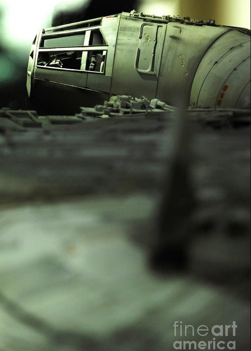 Fighter Greeting Card featuring the photograph The Millennium Falcon by Micah May
