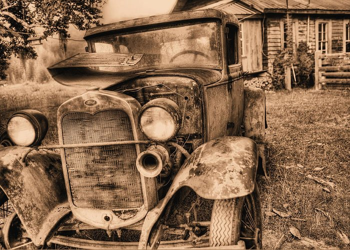 Model A Greeting Card featuring the photograph The Model A by JC Findley