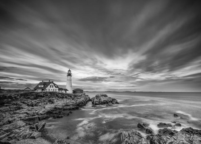 Horizontal Greeting Card featuring the photograph The Motion Of The Lighthouse by Jon Glaser