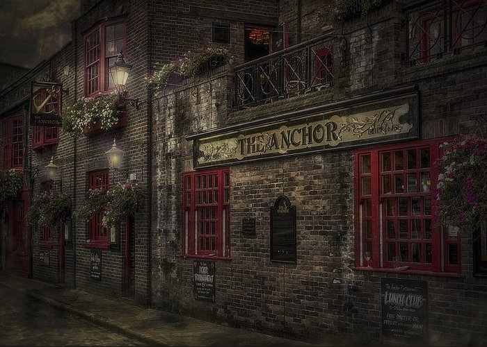 Anchor Greeting Card featuring the photograph The Old Anchor Pub by Erik Brede