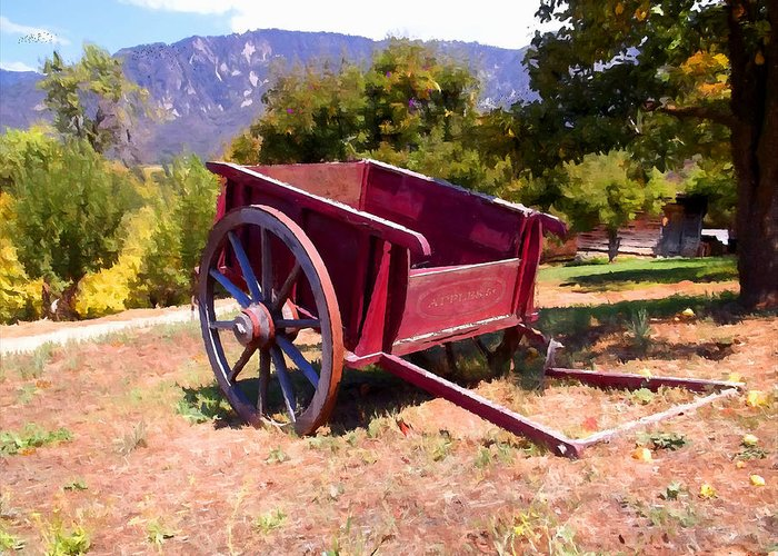 The Old Apple Cart Greeting Card featuring the photograph The Old Apple Cart by Glenn McCarthy Art and Photography