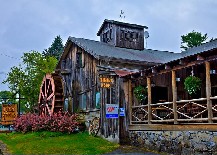 The Old Mill Restaurant Greeting Card featuring the photograph The Old Mill Restaurant - Old Forge New York by David Patterson