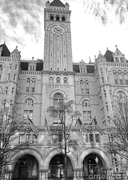 Washington Greeting Card featuring the photograph The Old Post Office by Olivier Le Queinec