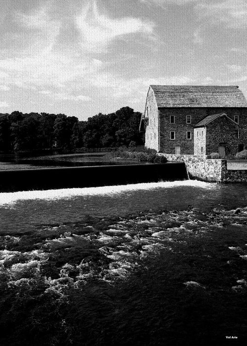 Grist Mill Greeting Card featuring the photograph The Other Mill by Val Arie