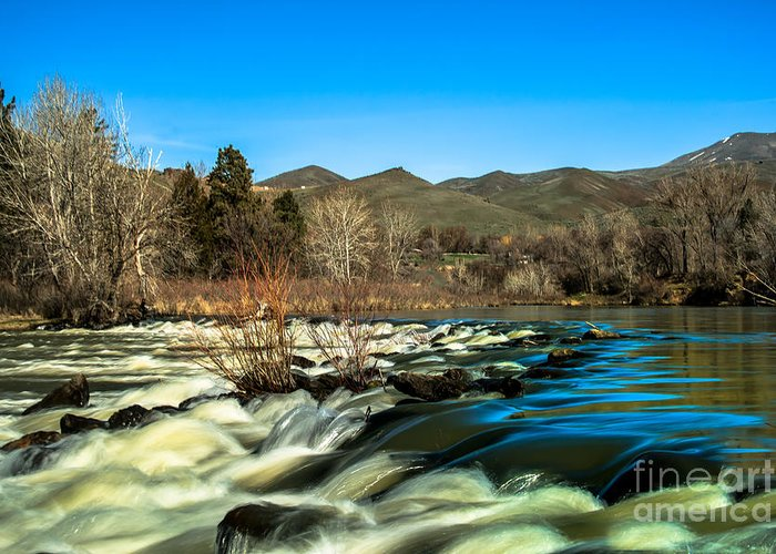 Idaho Greeting Card featuring the photograph The Payette River by Robert Bales
