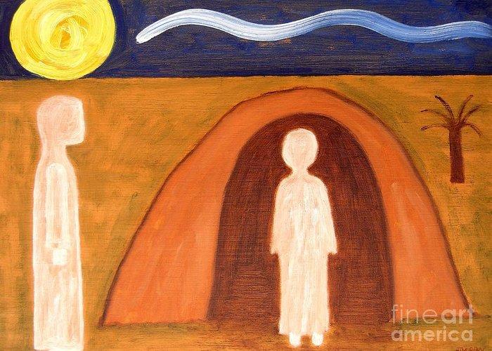 Easter Greeting Card featuring the painting The Raising Of Lazarus by Patrick J Murphy