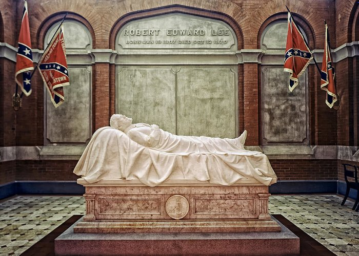 Robert E. Lee Greeting Card featuring the photograph The Recumbent Robert E. Lee by Mountain Dreams