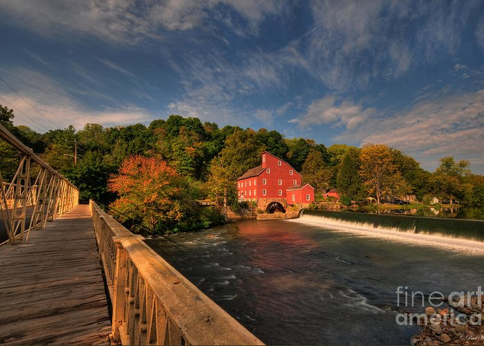 Clinton Greeting Card featuring the photograph The Red Mill by Paul Ward