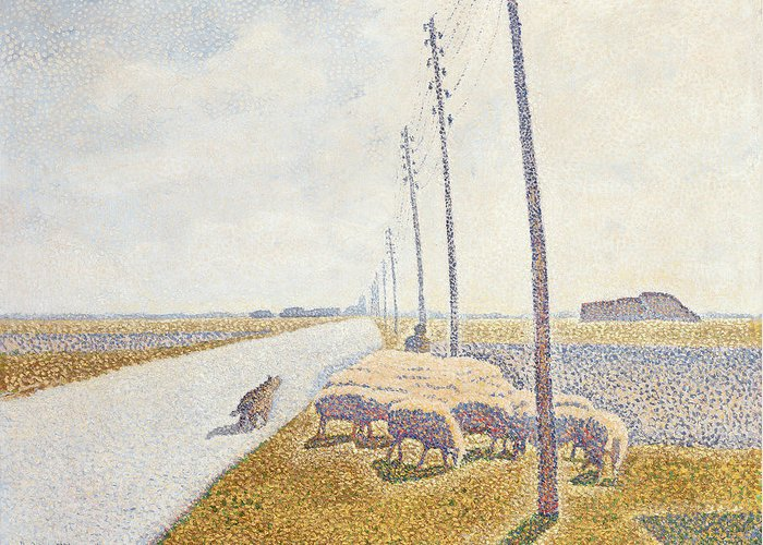 Path Greeting Card featuring the painting The Road To Nieuport by Willy Finch