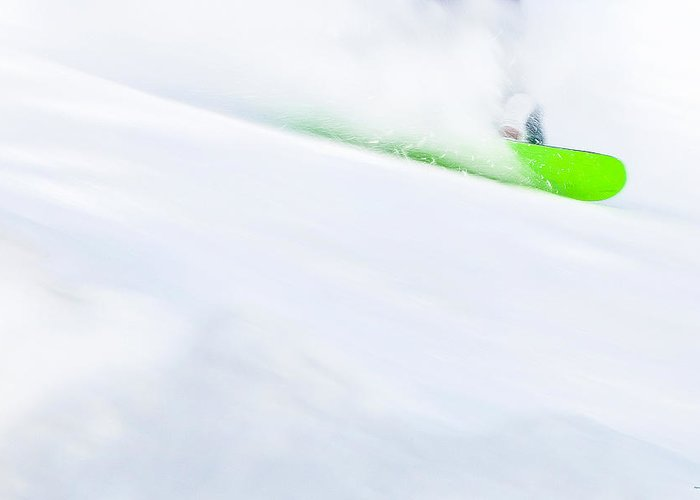 Snowboarder Greeting Card featuring the photograph The Snowboarder And The Snow by Theresa Tahara