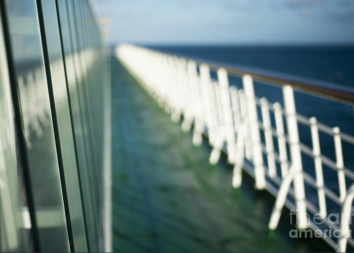 Abstract Greeting Card featuring the photograph The Sun Deck by Anne Gilbert