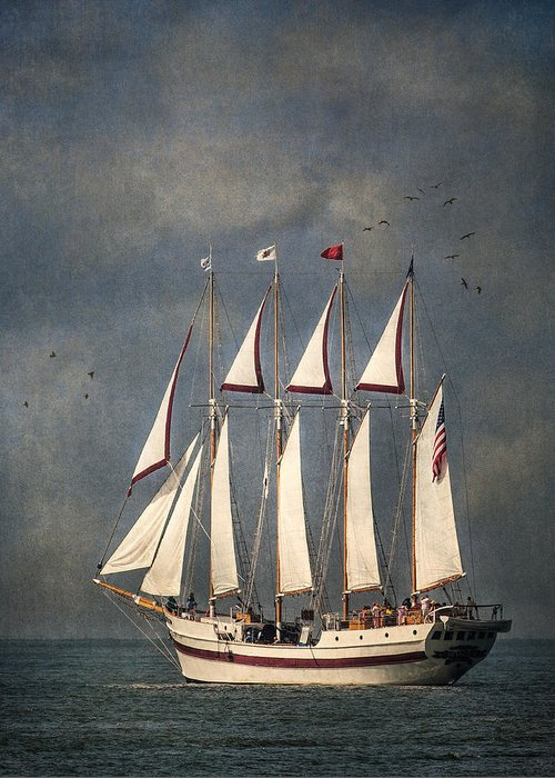 Windy Greeting Card featuring the photograph The Tall Ship Windy by Dale Kincaid