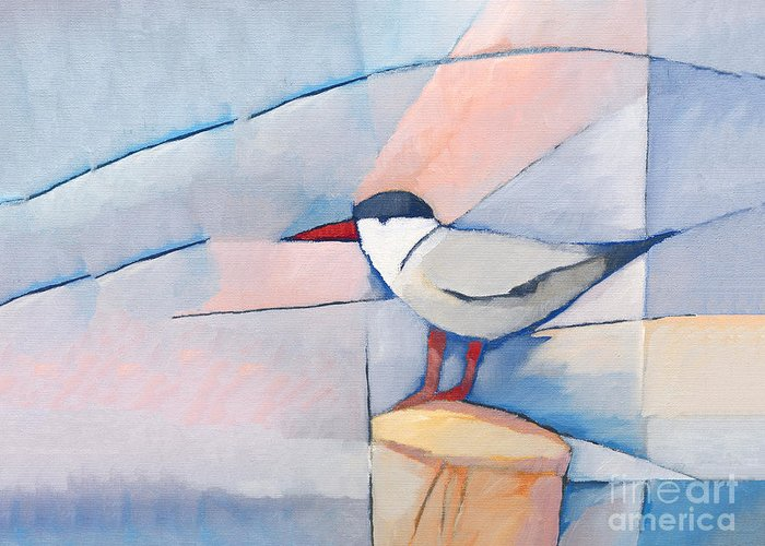 The Tern Greeting Card featuring the painting The Tern by Lutz Baar