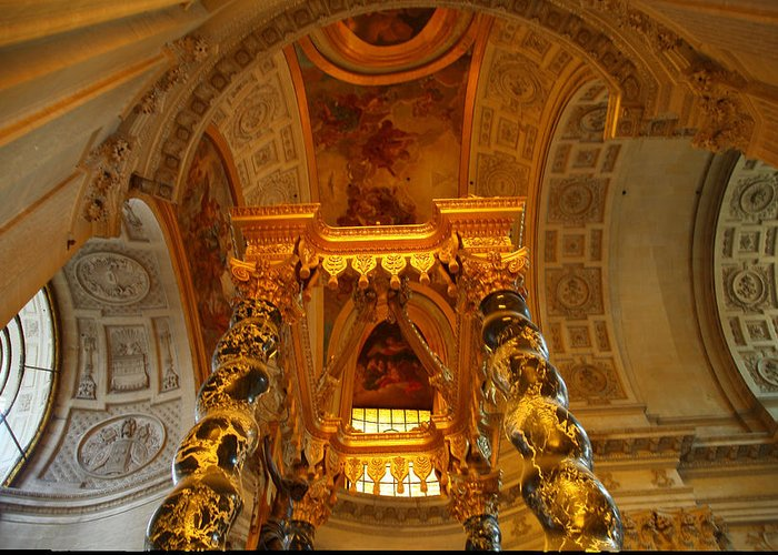 Paris Greeting Card featuring the photograph The Tombs At Les Invalides - Paris France - 011324 by DC Photographer