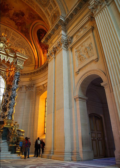 Paris Greeting Card featuring the photograph The Tombs At Les Invalides - Paris France - 01138 by DC Photographer