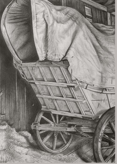 Chelsea Blair Greeting Card featuring the drawing The Weary Traveler by Chelsea Blair