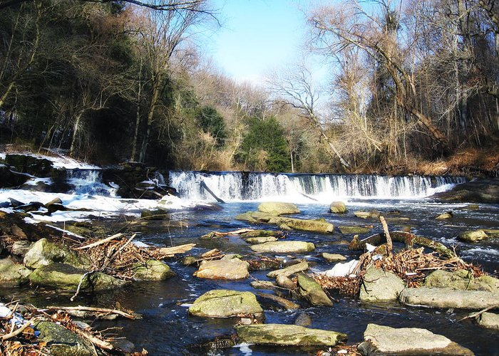 Wissahickon Greeting Card featuring the photograph The Wissahickon Creek In February by Bill Cannon