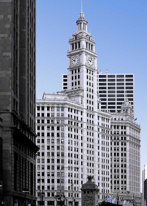 Chicago Greeting Card featuring the photograph The Wrigley - A Building That Is Pure Chicago by Christine Till