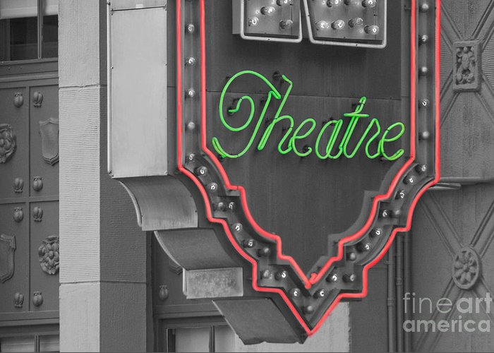 Theater Greeting Card featuring the photograph Theatre by Dan Holm