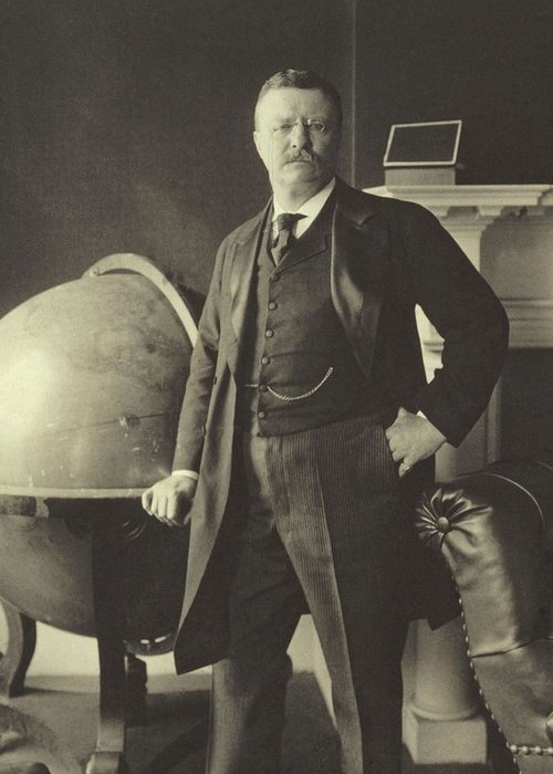 Republican Greeting Card featuring the photograph Theodore Roosevelt by Anonymous