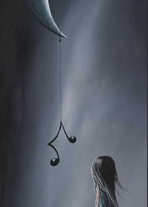 Art Greeting Card featuring the painting They Feel Your Love Song - Surreal Art By Shawna Erback by Shawna Erback
