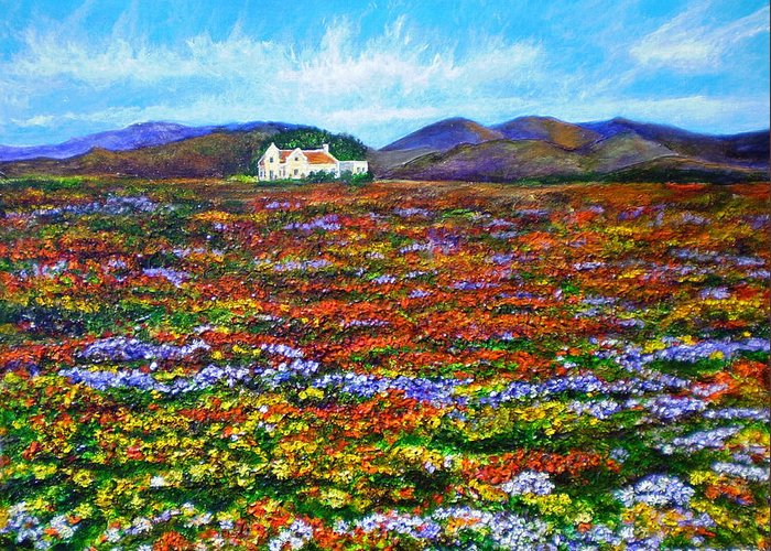 Flower Greeting Card featuring the painting This Must Be Heaven by Michael Durst