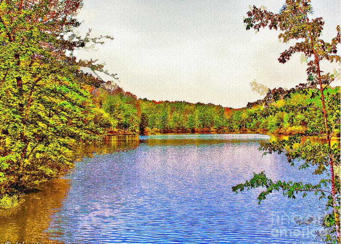 Thousand Trails Greeting Card featuring the photograph Thousand Trails Preserve Natchez Lake by Bob and Nadine Johnston