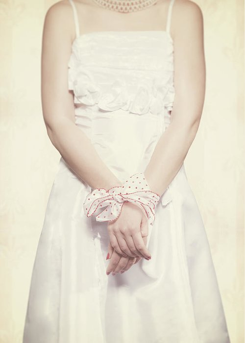 Hand Greeting Card featuring the photograph Tied by Joana Kruse