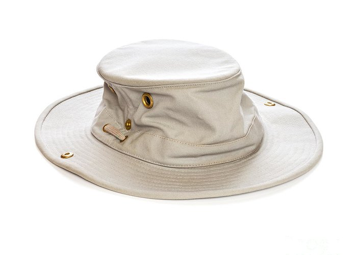 Tilley Hat Greeting Card featuring the photograph Tilley Hat by Colin and Linda McKie