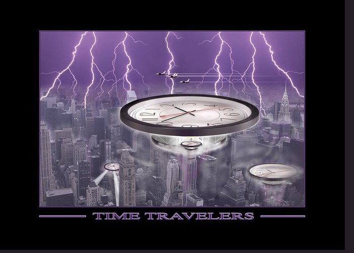 Cityscape Greeting Card featuring the photograph Time Travelers by Mike McGlothlen