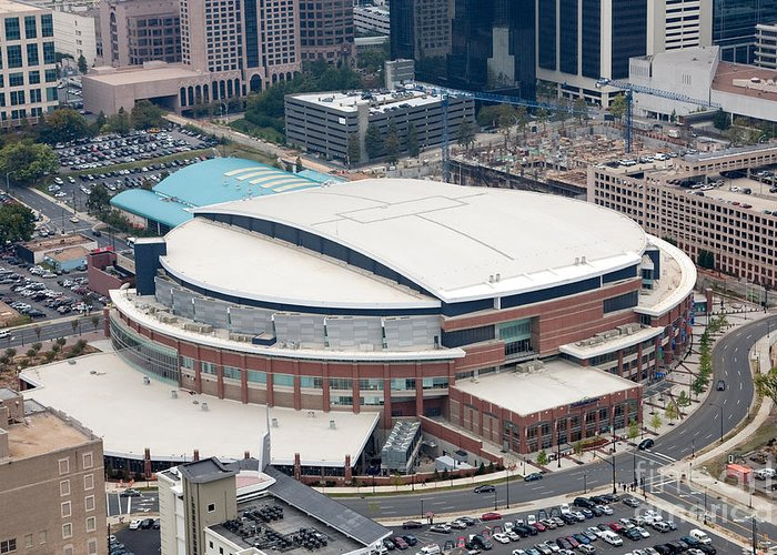 Time Warner Cable Arena Greeting Card featuring the photograph Time Warner Cable Arena by Bill Cobb