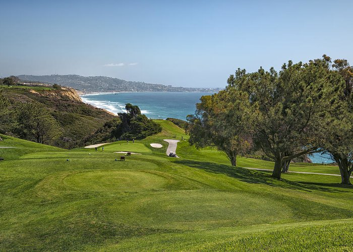 3scape Photos Greeting Card featuring the photograph Torrey Pines Golf Course North 6th Hole by Adam Romanowicz