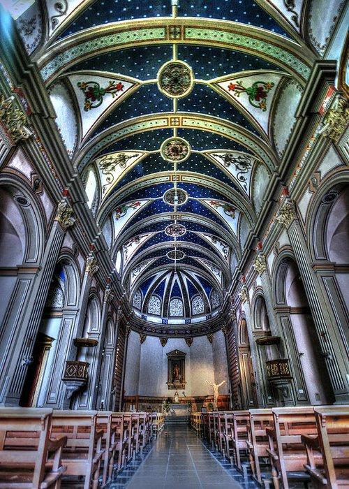 Tossa De Mar Church Greeting Card featuring the photograph Tossa De Mar Church by Isaac Silman