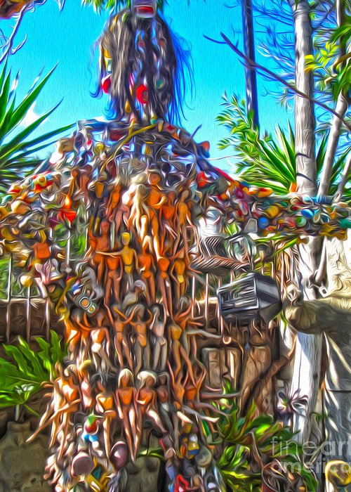 Martin Tios Tacos Greeting Card featuring the photograph Toy Tree - 04 by Gregory Dyer