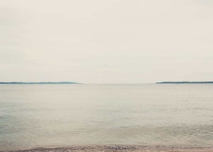 Landscape Greeting Card featuring the photograph Traverse Bay by Elle Moss