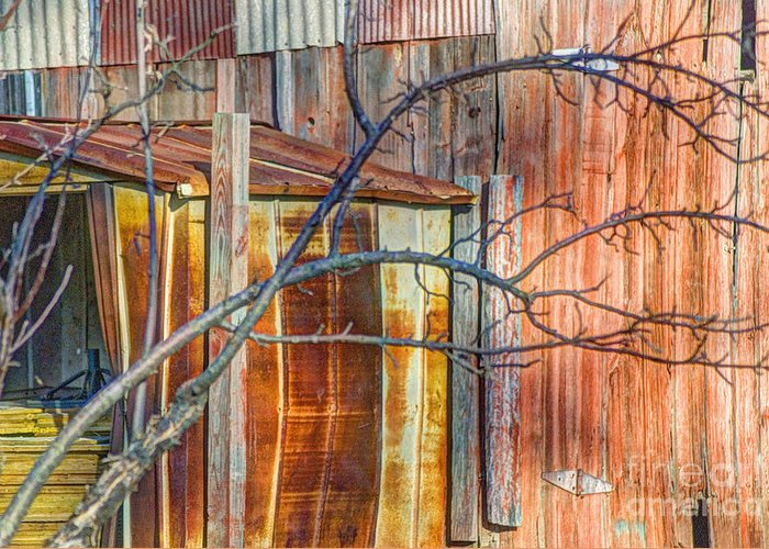 Tree Greeting Card featuring the photograph Tree And Rust by Jim Wright