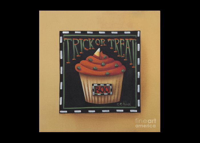 Art Greeting Card featuring the painting Trick Or Treat by Catherine Holman