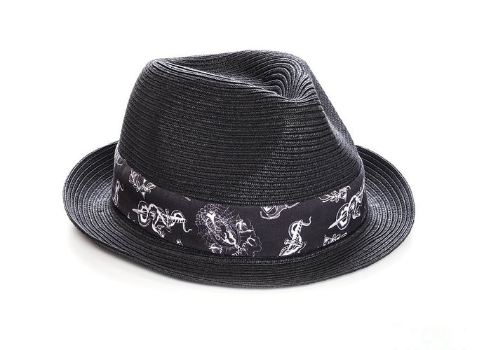 Trilby Greeting Card featuring the photograph Trilby Hat by Colin and Linda McKie