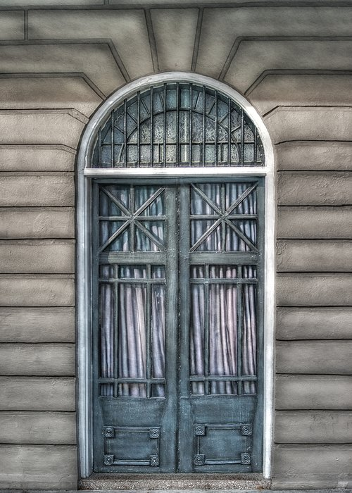 Door Greeting Card featuring the photograph Trimestre De Porte Fracasse by Brenda Bryant