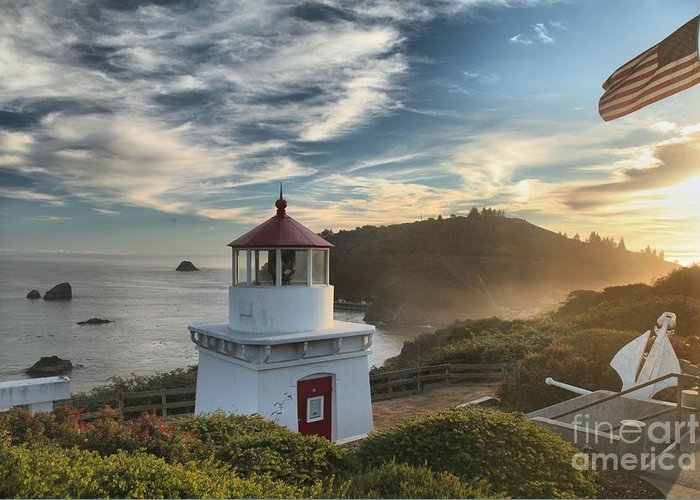 Trinidad State Beach Greeting Card featuring the photograph Trinidad Light by Adam Jewell