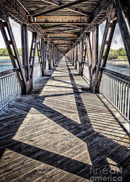 Tulsa Greeting Card featuring the photograph Tulsa Pedestrian Bridge by Tamyra Ayles