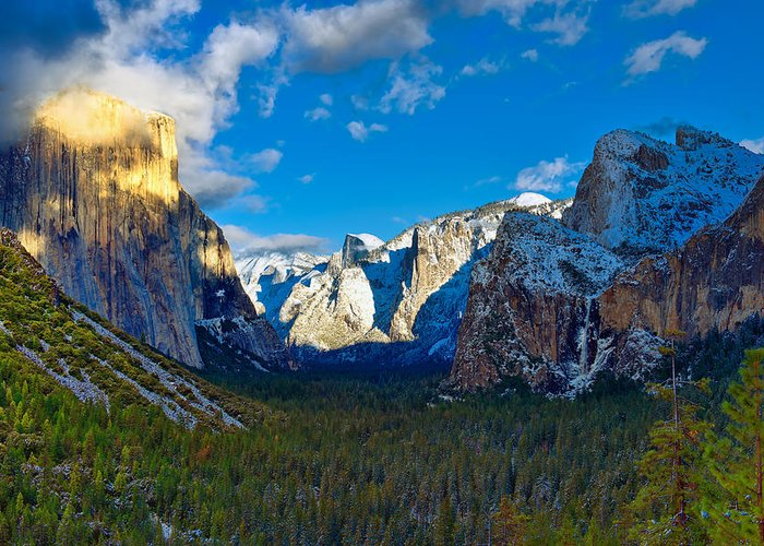Mark Whitt Greeting Card featuring the photograph Tunnel View by Mark Whitt